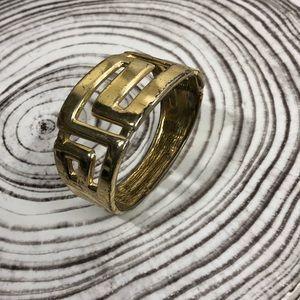 Jewelry - Hinged gold cuff bracelet